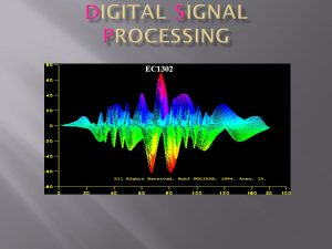 Image of Digital Signal Processing in blue green and pink colour shades.